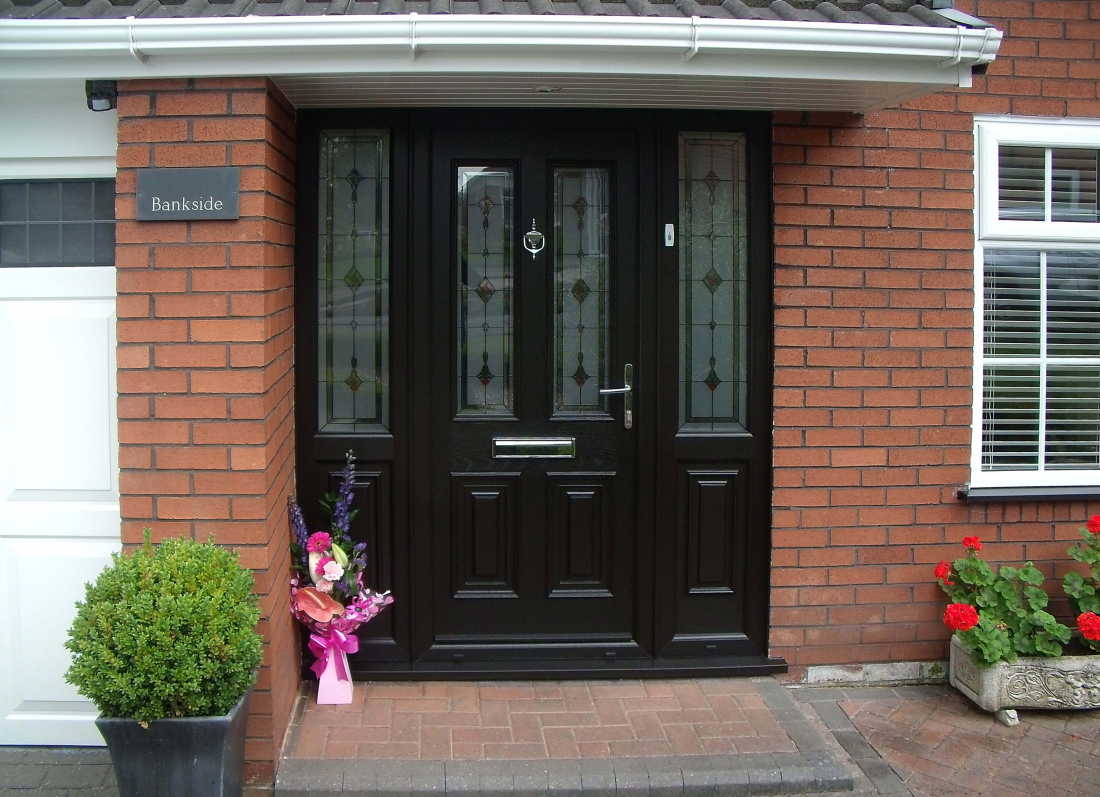 Black Palladio Door - Grosvenor Windows - Horwich - Bolton
