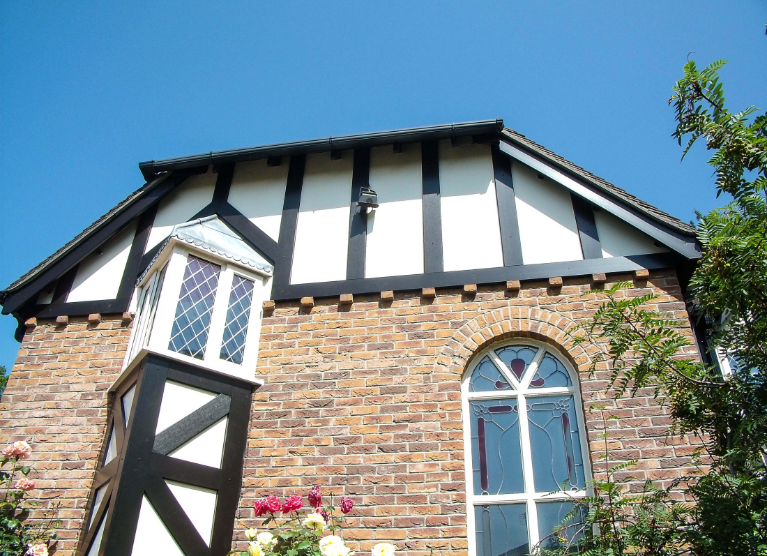 Black Tudor Roofline - Grosvenor Windows - Horwich - Bolton
