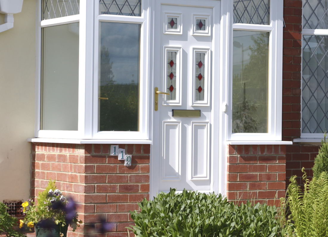 White Flat Roof Porch - Grosvenor Windows - Horwich - Bolton