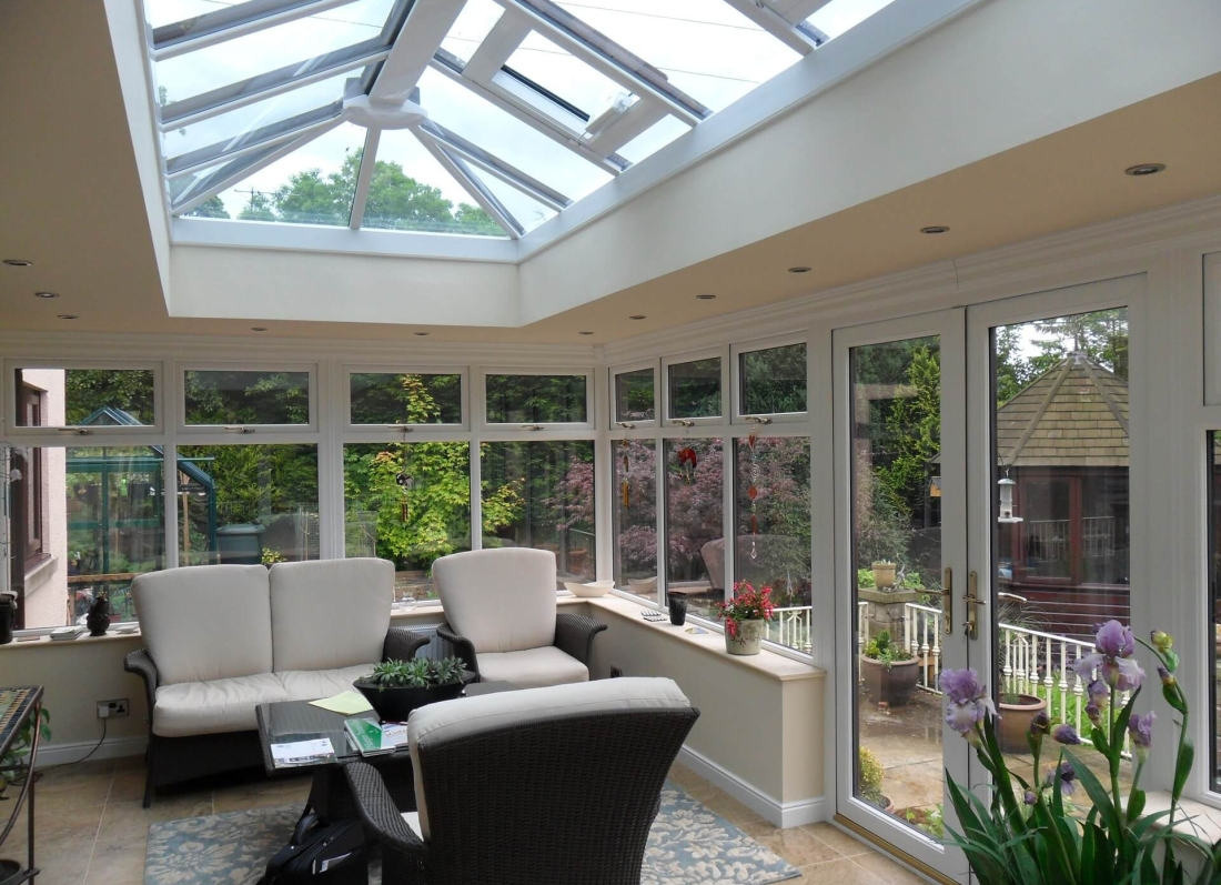 White Orangery Interior - Grosvenor Windows - Horwich - Bolton