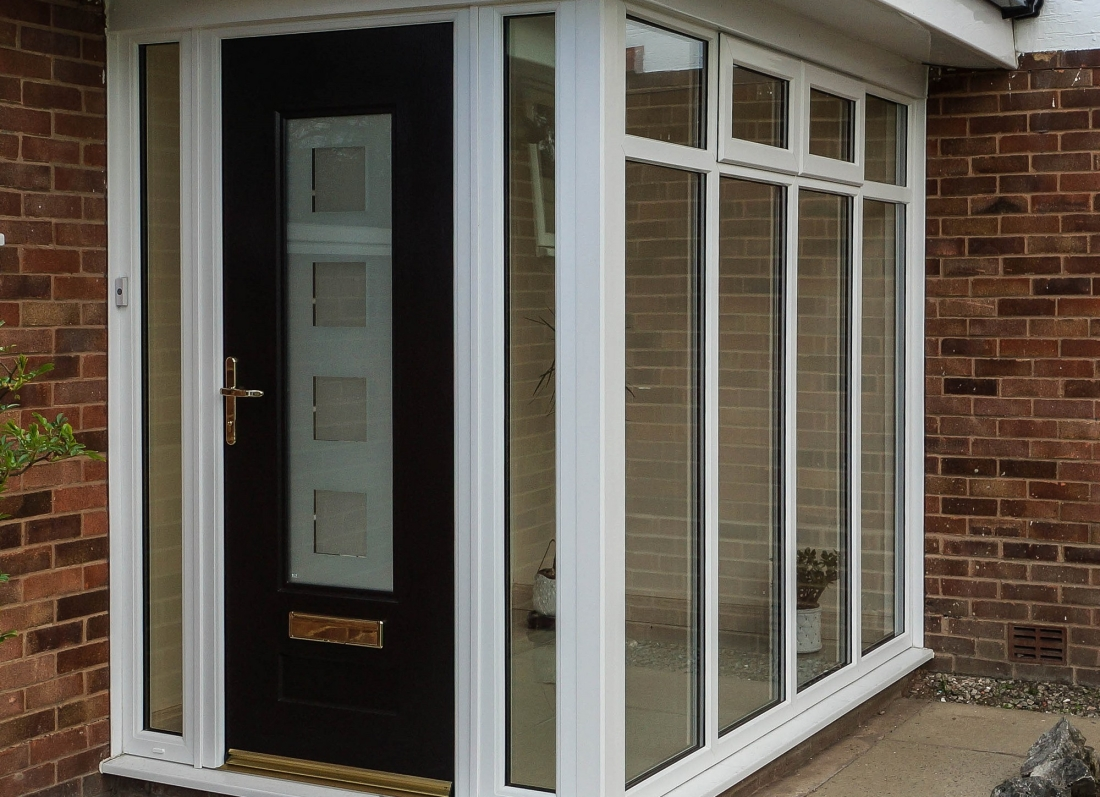 Porch Rock Door - Grosvenor Windows - Horwich - Bolton