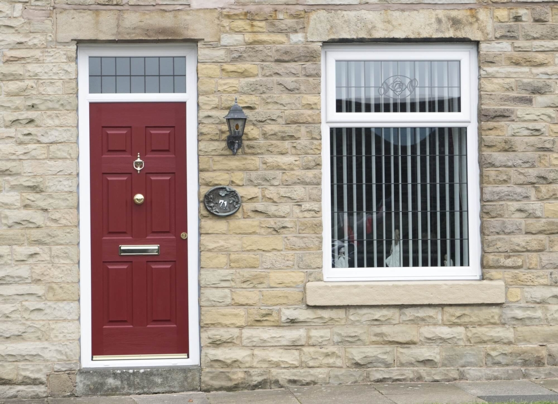 Red Rock Door - Grosvenor Windows - Horwich - Bolton