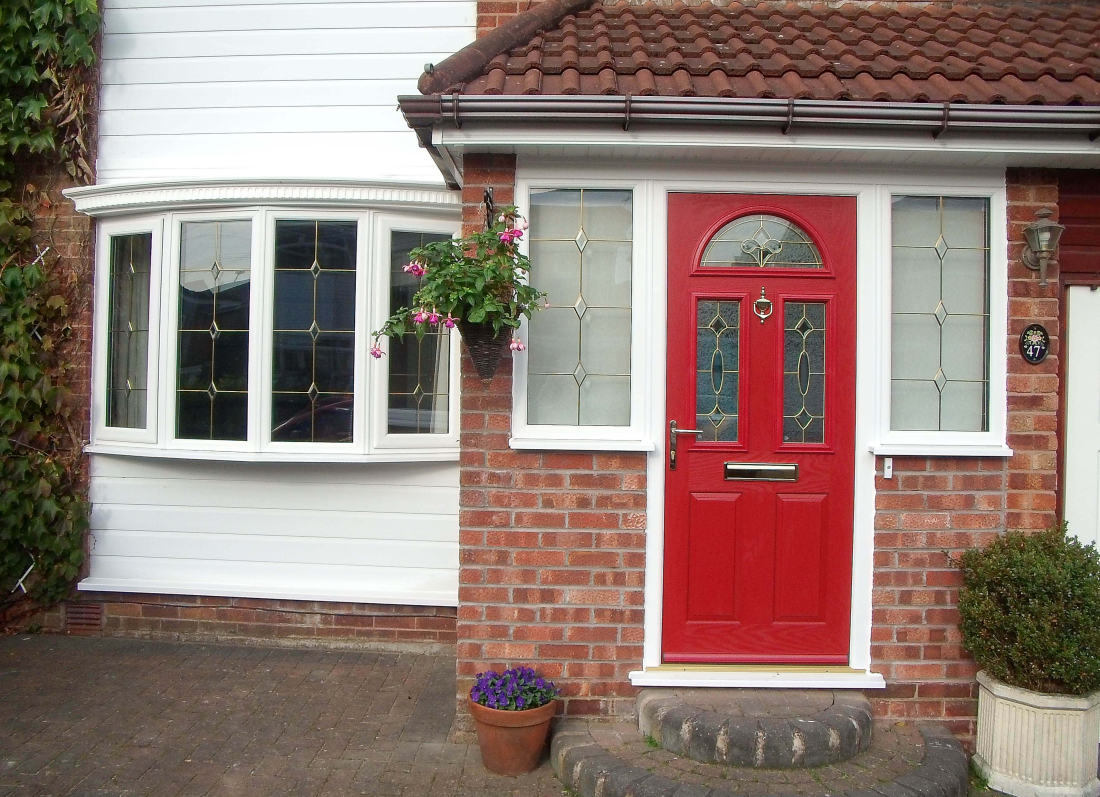 Red Veka Door - Grosvenor Windows - Horwich - Bolton