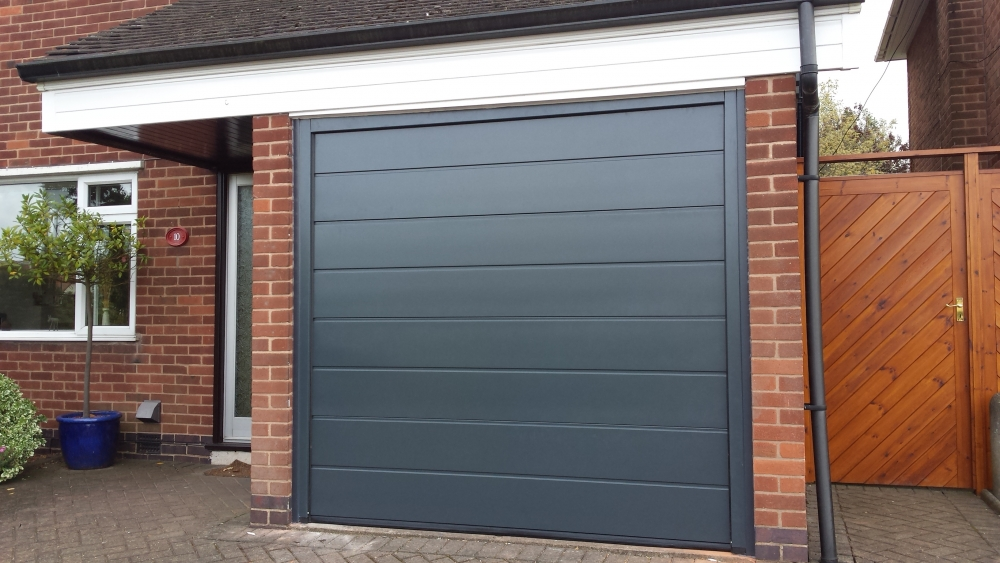 Hormann Black Garage Door - Grosvenor Windows - Horwich - Bolton