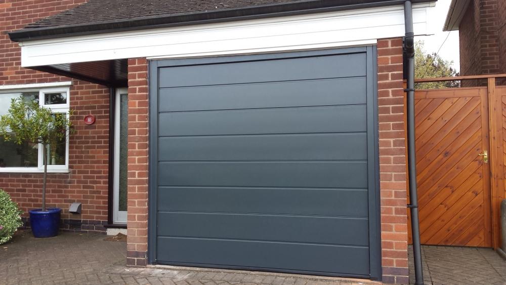 Hormann Black Garage Door - Grosvenor Windows - Horwich - Bolton