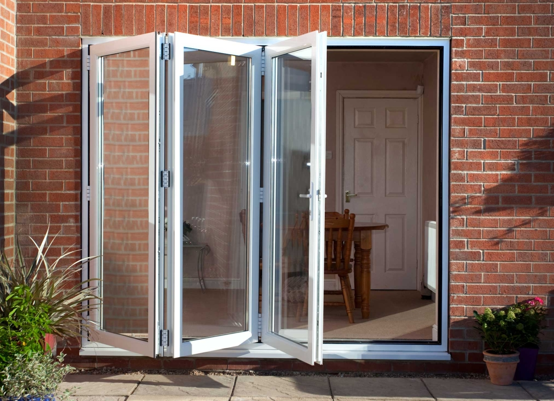 uPVC White BiFold Doors - Grosvenor Windows - Horwich - Bolton