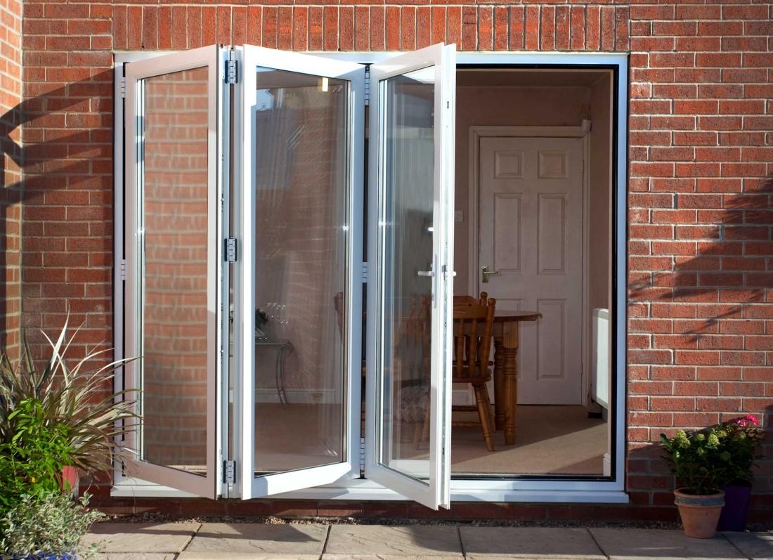uPVC White BiFold Doors - Grosvenor Windows - Horwich - Bolton