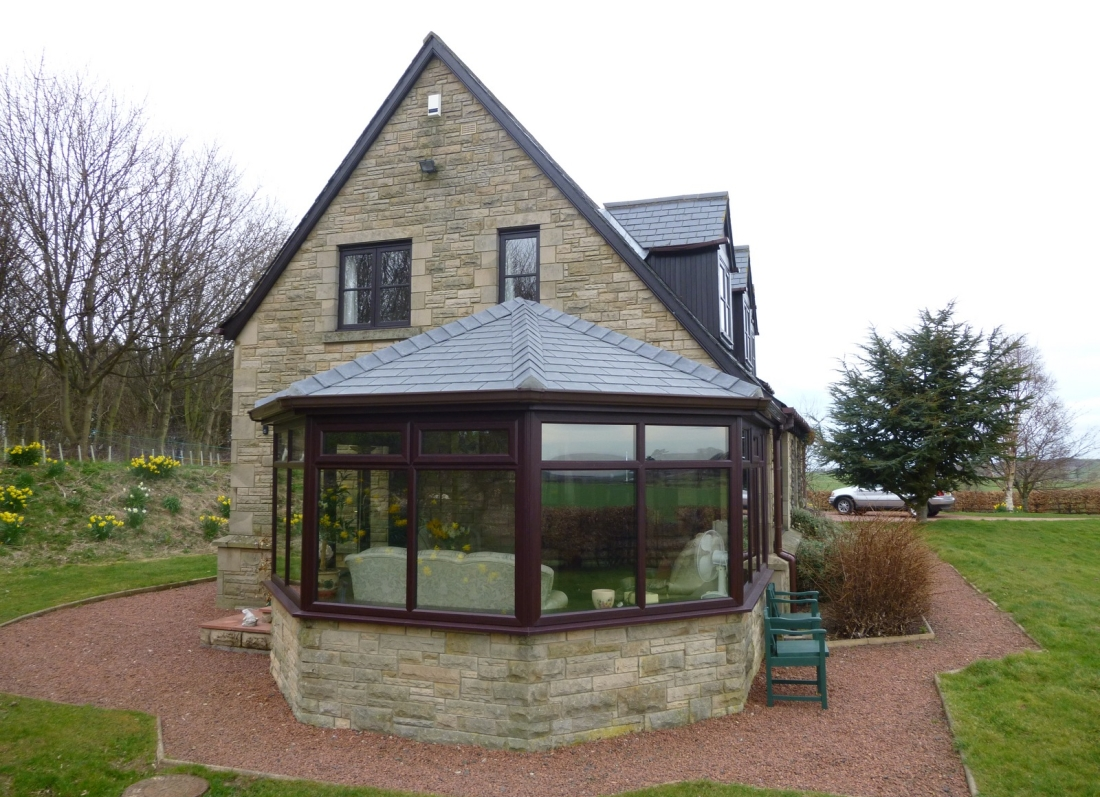 Slate Roof Conservatory - Grosvenor Windows - Horwich - Bolton